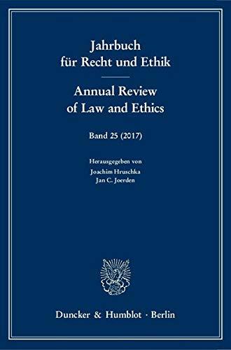Jahrbuch für Recht und Ethik / Annual: Hruschka, Joachim /