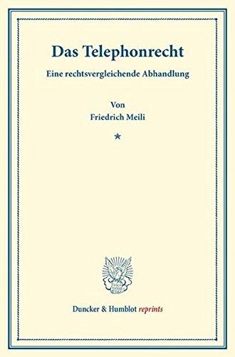 9783428166411: Das Telephonrecht.