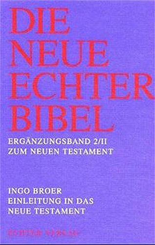 9783429023164: Einleitung in das Neue Testament: Einleitung in die neutestamentliche Briefliteratur und Apokalypse: Erg.-Bd. 2/2