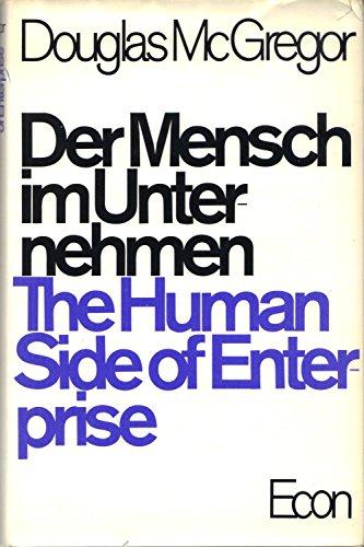 9783430163859: Der Mensch im Unternehmen. ( The Human Side of Enterprise.)