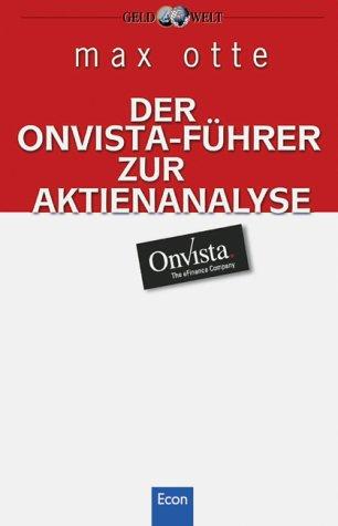 9783430172790: Der OnVista-F�hrer zur Aktienanalyse