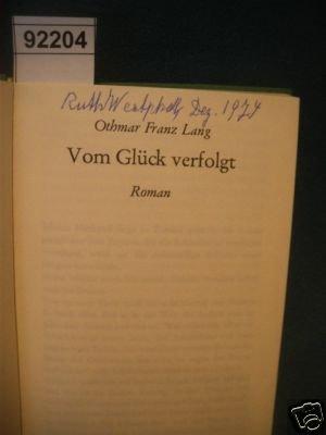 9783431015980: Vom Glück verfolgt: Roman (German Edition)