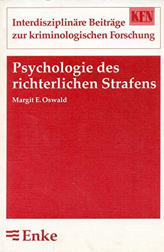 9783432260419: Psychologie des richterlichen Strafens