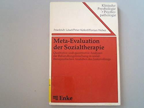 9783432967110: Meta-Evaluation der Sozialtherapie. Qualitative und quantitative Analysen zur Behandlungsforschung in sozialtherapeutischen Anstalten des Justizvollzugs