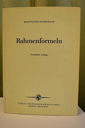Rahmenformeln.: Adolf Kleinlogel