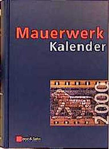 9783433014370: Mauerwerk-Kalender 2000+CD