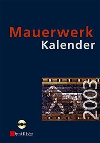9783433015094: Mauerwerk Kalender 2003
