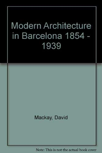 9783433021637: Modern Architecture in Barcelona 1854 - 1939