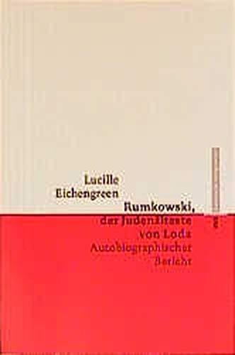 9783434504580: Rumkowski, der Juden�lteste von Lodz: Autobiographischer Bericht