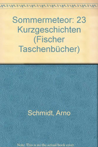 Sommermeteor: 23 Kurzgeschichten (Fischer Taschenbücher): Schmidt, Arno