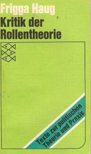 9783436016302: Kritik Der Rollentheorie Und Ihrer Anwendung in Der Burgerlichen Deutschen Soziologie