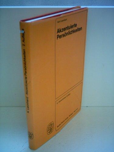 9783437104473: Akzentuierte Personlichkeiten (German Edition)
