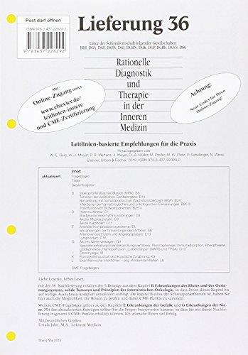 9783437228292: Rationelle Diagnostik und Therapie in der Inneren Medizin: Lieferung 36