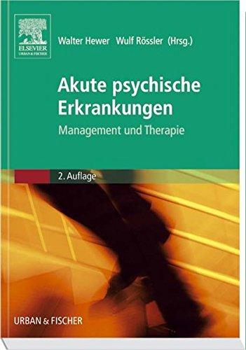 9783437228803: Akute psychische Erkrankungen: Management und Therapie