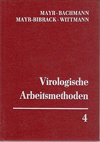 9783437303715: Virologische Arbeitsmethoden IV. Sicherheit bei virologischen Arbeiten - Biometrische Methoden