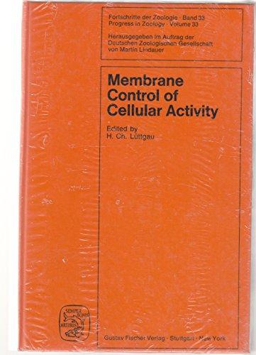 9783437305252: Membrane control of cellular activity (Progress in zoology)