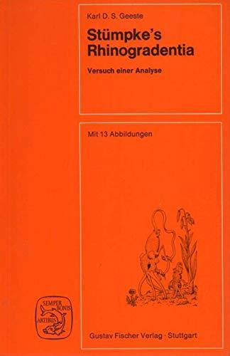9783437305597: Stümpke's Rhinogradentia. Versuch einer Analyse