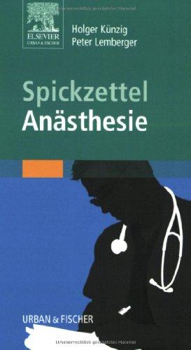 9783437416637: Spickzettel An�sthesie