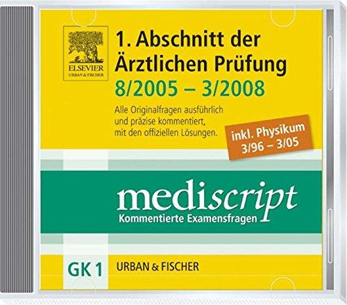 9783437438684: Mediscript 1. Abschnitt der Ã