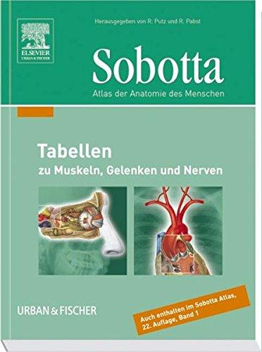 9783437441004: Sobotta Tabellen. Tabellen zu Muskeln, Gelenken und Nerven