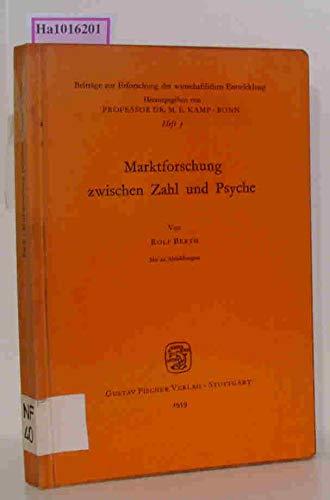 9783437500046: Marktforschung zwischen Zahl und Psyche