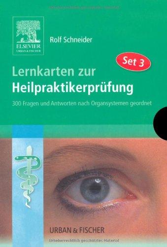9783437589201: Lernkarten zur Heilpraktikerprüfung Set 3