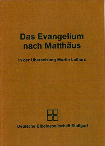 9783438032317: Das Evangelium nach Matth�us. Luther�bersetzung 1984. Grossdruck
