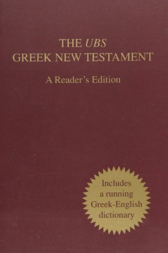 UBS Greek NT - A Readers Edition (3438051494) by American Bible Society