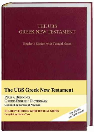 9783438051530: UBS Greek New Testament Reader's Edition With Textual Notes (Greek Edition) (Greek and English Edition)