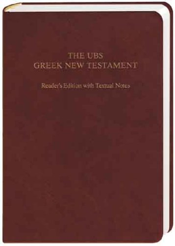 9783438051547: UBS Greek New Testament Reader's Edition With Textual Notes (Greek Edition)