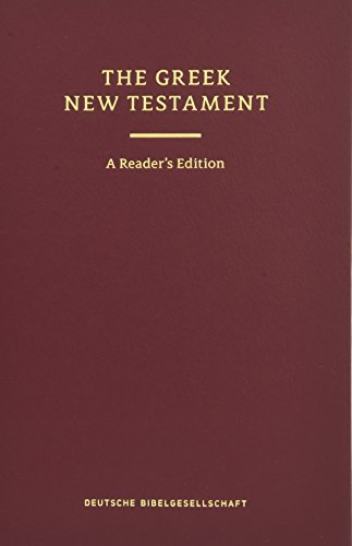 9783438051684: UBS 5th Revised Greek New Testament Reader's Edition: 124377 (English and Greek Edition)