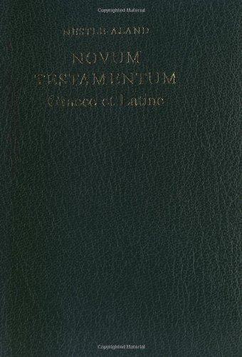 9783438054012: Novum testamentum graece et latine 27 édition nouvelle vulgate en vis a vis