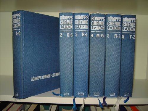 Römpps Chemie-Lexikon. 6 Bände komplett., [Begründet von Hermann Römpp. ...