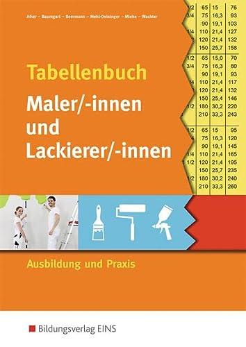 Tabellenbuch Maler und Lackierer - Alker, Stefan; Baumgart, Birte; Beermann, Werner