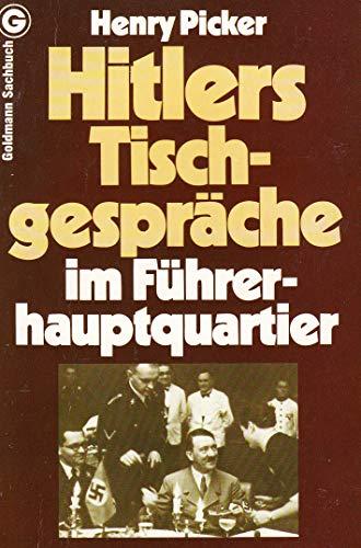 9783442112340: Hitlers Tischgespräche im Führerhauptquartier
