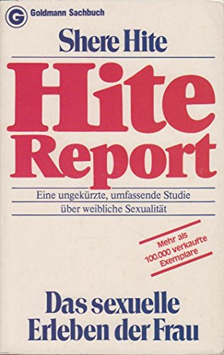 Also hite report masturbation was and