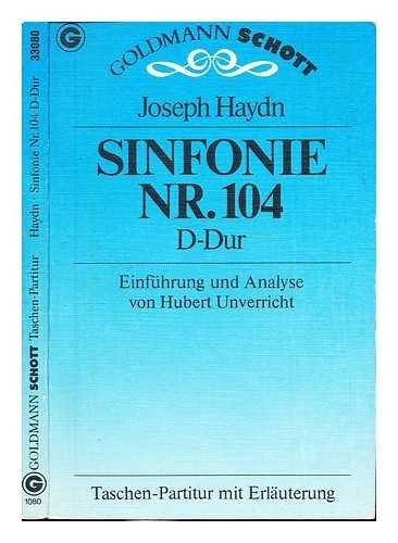 9783442330805: Sinfonie Nr. 104 D-Dur. Taschenpartitur