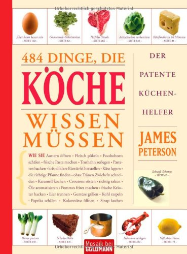 484 Dinge, die Köche wissen müssen (9783442391493) by [???]