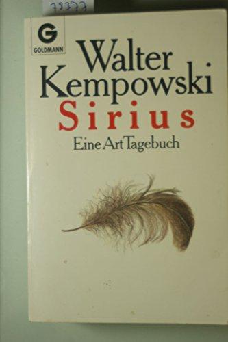 9783442414901: Sirius. Eine Art Tagebuch