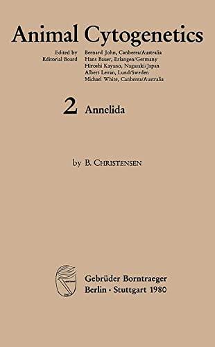 9783443260101: Annelida (Animal cytogenetics)