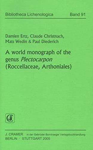 A World monograph of the genus Plectocarpon (Roccellaceae, Arthoniales): Damien Ertz