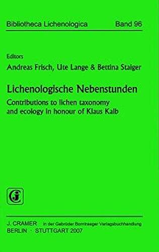 Lichenologische Nebenstunden: Andreas Frisch