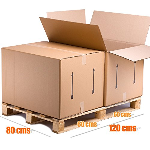 9783444216510: telecajas x10tcb (x5) Double Wall Cardboard Boxes Set of 5(80x 60x 55cms)
