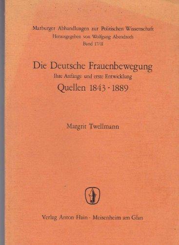 Die Deutsche Frauenbewegung - Quellen: n/a
