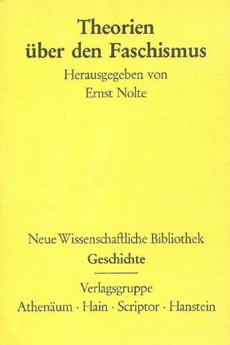 9783445016904: Theorien über den Faschismus.