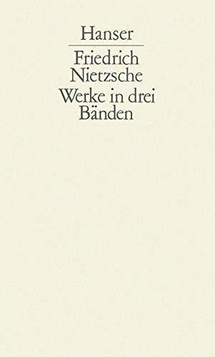 Werke in drei Bänden. Registerband: Nietzsche-Index.: Nietzsche, Friedrich - Schlechta, Karl (...