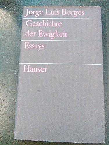 9783446109254: Geschichte der Ewigkeit: Essays
