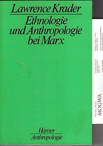 9783446117341: Ethnologie und Anthropologie bei Marx