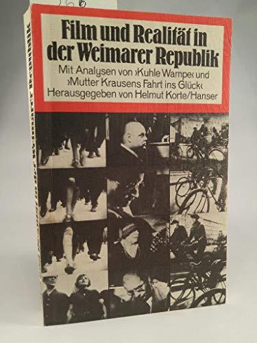 9783446125421: Film und Realität in der Weimarer Republik