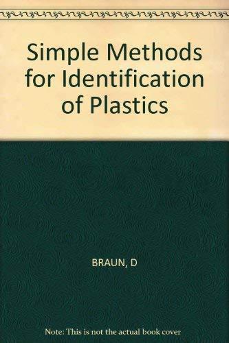 9783446148550: Simple Methods for Identification of Plastics